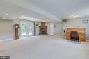 Huge basement/family room area. - 7420 LAURA LN, FREDERICKSBURG