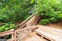 Stairs leading up to pool - 8531 W HOWELL RD, BETHESDA