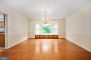 Dining Room with Storage Bench - 9 OAKBROOK CT, STAFFORD
