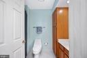 Hall Bath with Linen Closet - 9 OAKBROOK CT, STAFFORD