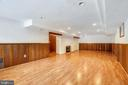 Lower level family room - 6801 GRANBY ST, BETHESDA