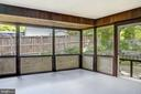 screen porch - 6801 GRANBY ST, BETHESDA