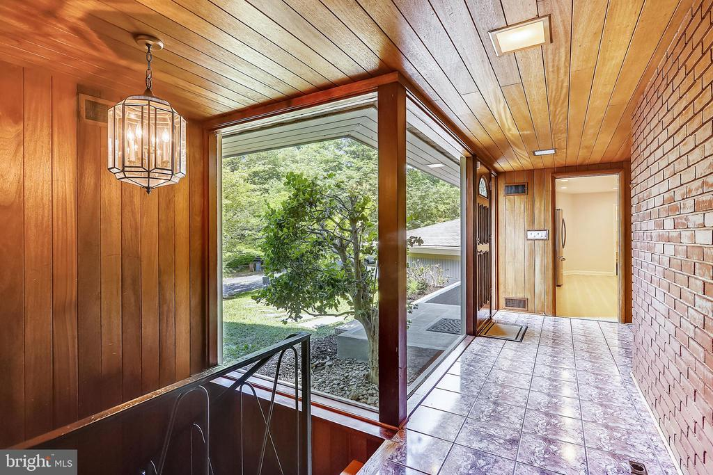 Foyer with stunning  large glass windows - 6801 GRANBY ST, BETHESDA