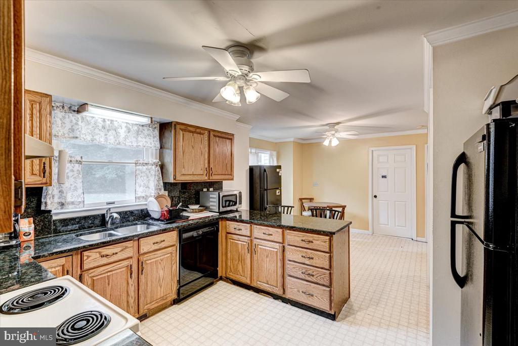 Ceiling fan in the Kitchen - 2376 RIVER DR, KING GEORGE