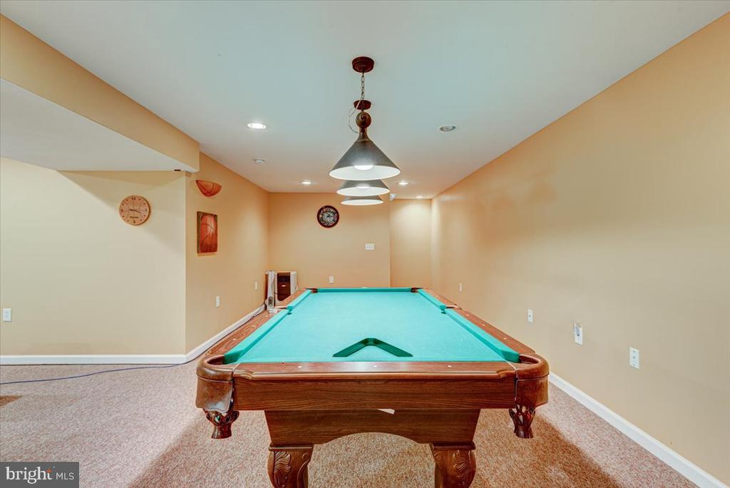 Unique Pendent lights in the basement - 2376 RIVER DR, KING GEORGE