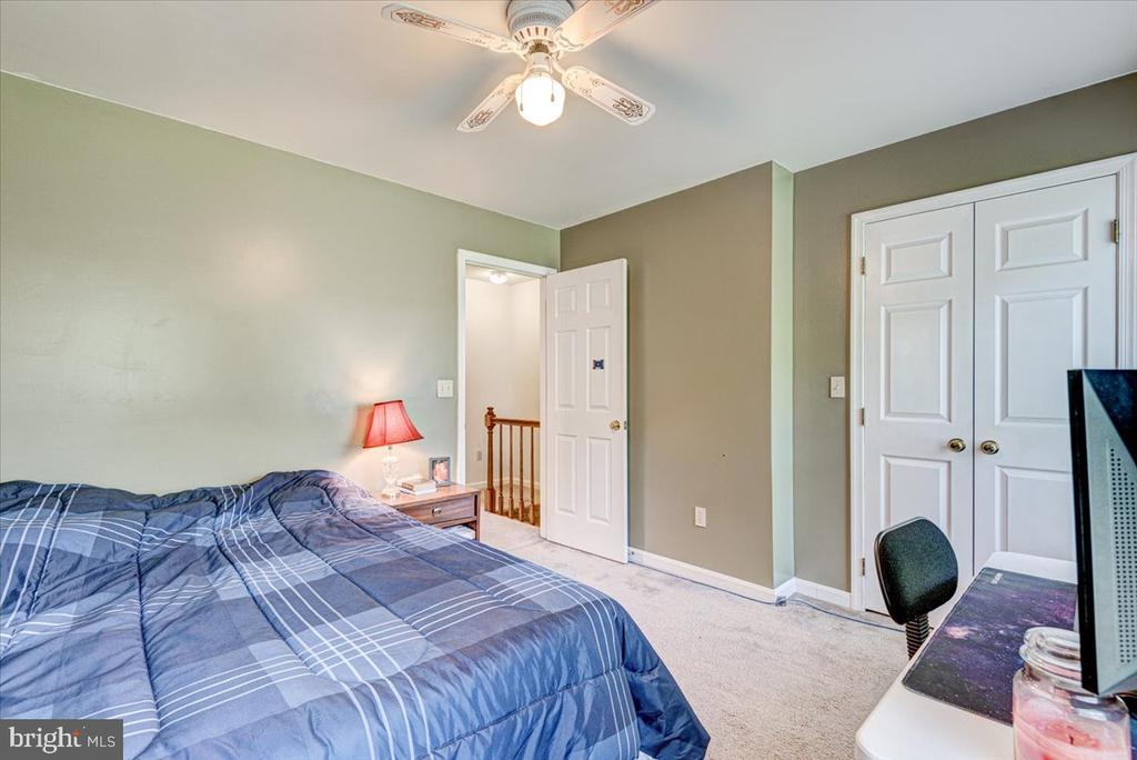 BR 2 with ceiling fan and Closet with French Doors - 2376 RIVER DR, KING GEORGE
