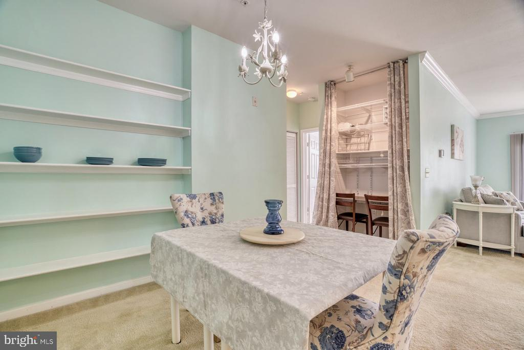 Dining Room has built in Shelving - 11381 ARISTOTLE DR #10-210, FAIRFAX