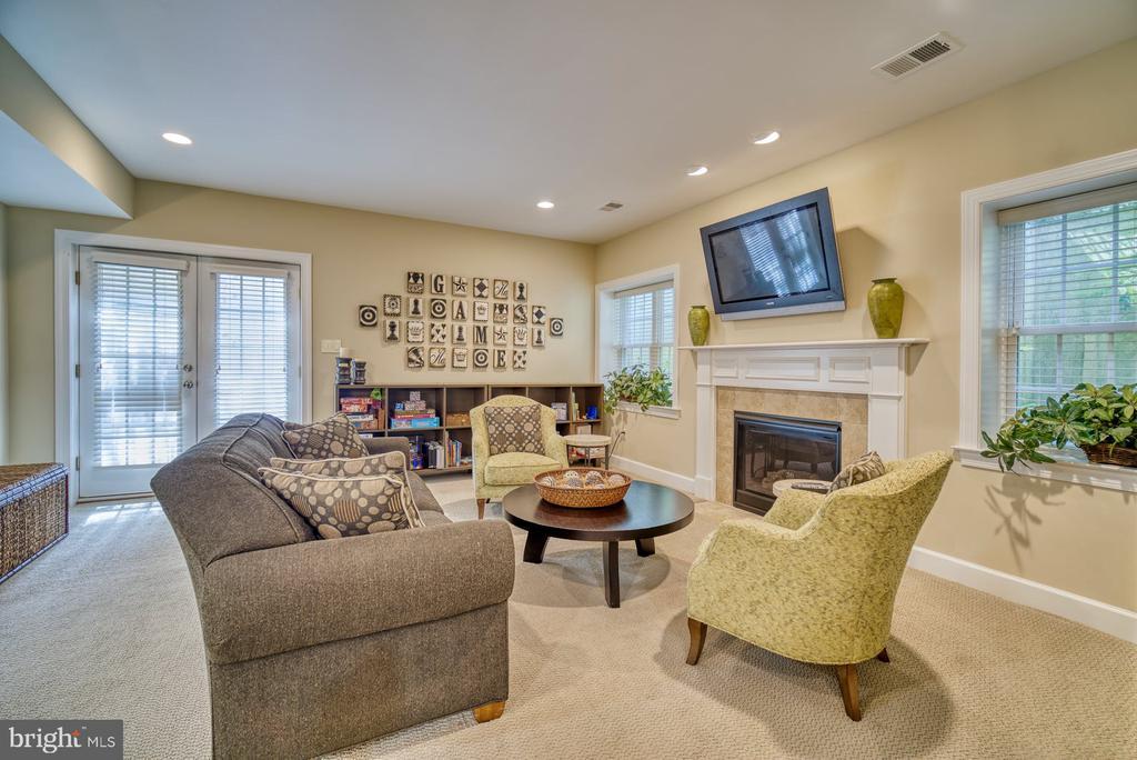 Recreation Room has Fireplace - 42416 RINGNECK PL, BRAMBLETON