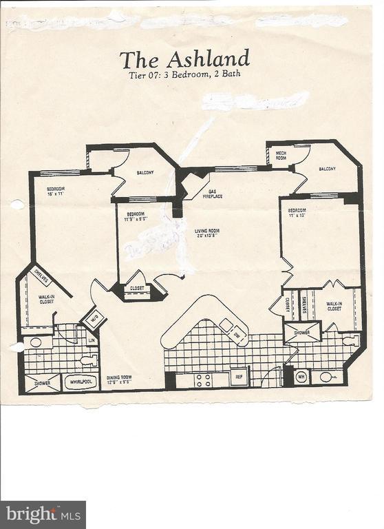Original 3 bedroom opened to 2 bedroom - 1276 N WAYNE ST #PH07, ARLINGTON