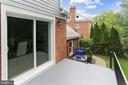 Rear patio with access to dining area - 1948 SEMINARY RD, SILVER SPRING
