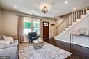 Living Rm with ample light and space at front door - 111 BAKER ST, MANASSAS PARK