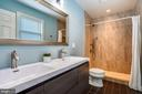 Main bedroom has private bath with double sinks - 111 BAKER ST, MANASSAS PARK