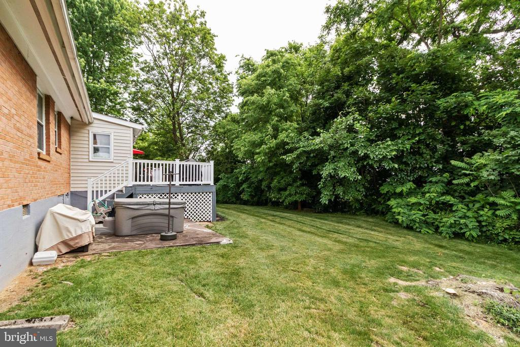 Wooded Private Backyard - 2504 HILLSIDE TER, WINCHESTER