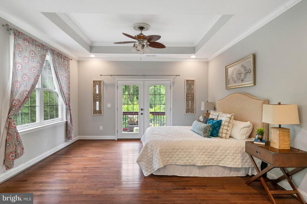 Owner's suite with french doors to the balcony - 12805 KAHNS RD, MANASSAS