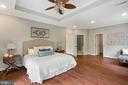 Owner's suite with tray ceiling - 12805 KAHNS RD, MANASSAS
