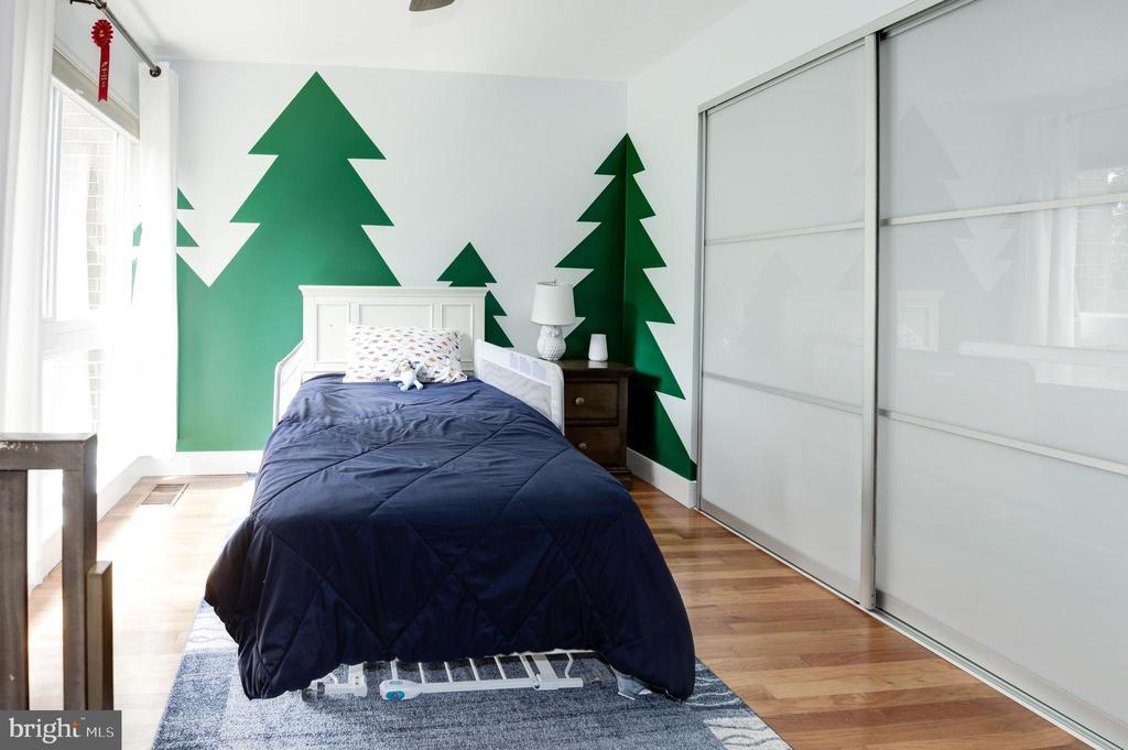 Bedroom #3 with custom Econize Closet System - 11568 LINKS DR, RESTON