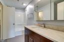 totally renovated Master bath - 6705 WASHINGTON BLVD #G, ARLINGTON