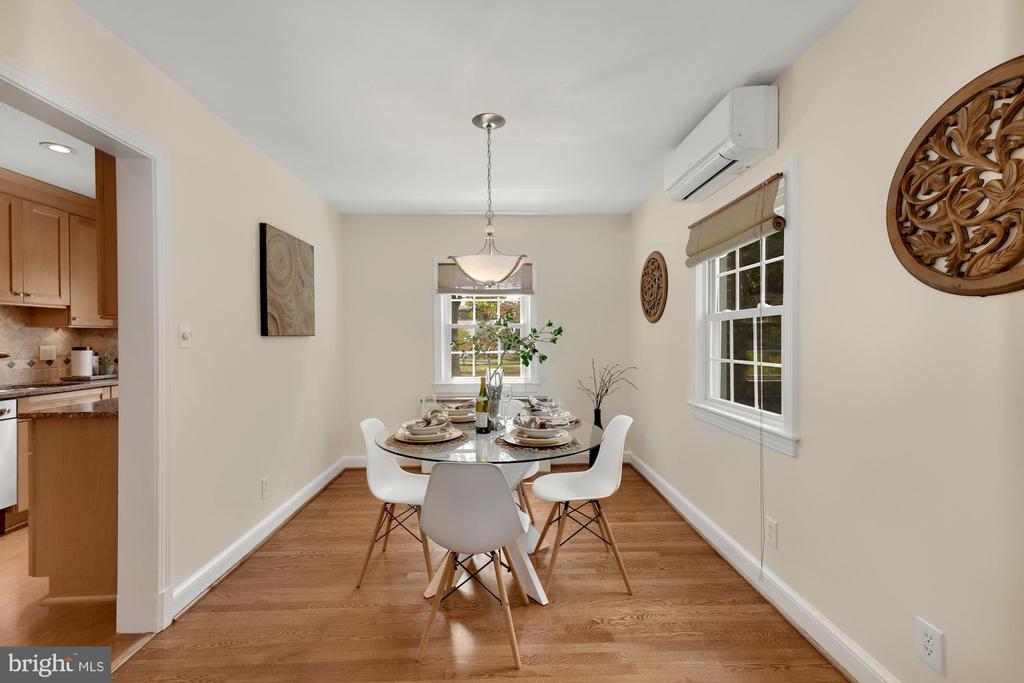 Dining Room - look at those floors! - 710 N NELSON ST, ARLINGTON