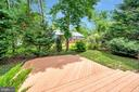 View from the multi tiered  decking into backyard - 205 PINE VALLEY RD, LOCUST GROVE