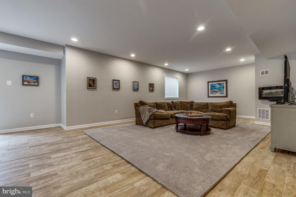 Huge Rec Room with Wall Mounted Fireplace - 41873 REDGATE WAY, ASHBURN