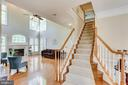 love this beautiful staircase - 4525 MOSSER MILL CT, WOODBRIDGE