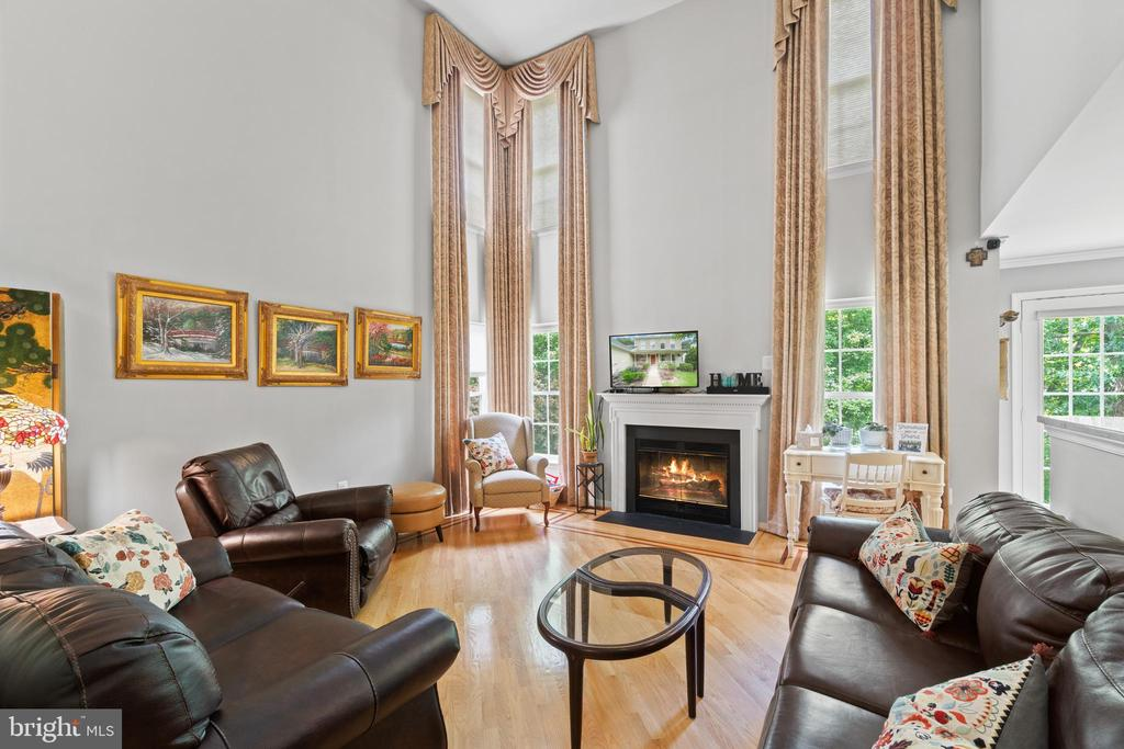 2 Story Family Room with Wood Burning Fireplace - 17318 ARROWOOD PL, ROUND HILL
