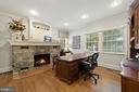 Large Office #1 / Living Room with Stone Fireplace - 213 LOUDOUN ST SW, LEESBURG