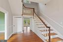 Center hall with stair - 675 LIME MARL LN, BERRYVILLE