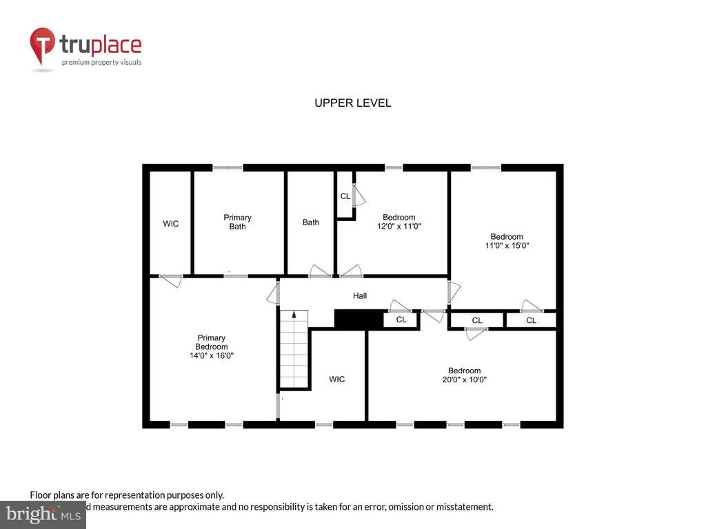 Upper-Lvl Floorpan w/all Hardwod Floors - 1515 STUART RD, RESTON