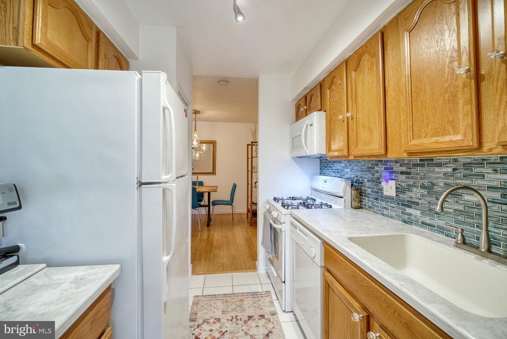 Galley kitchen - 11236 CHESTNUT GROVE SQ #164, RESTON