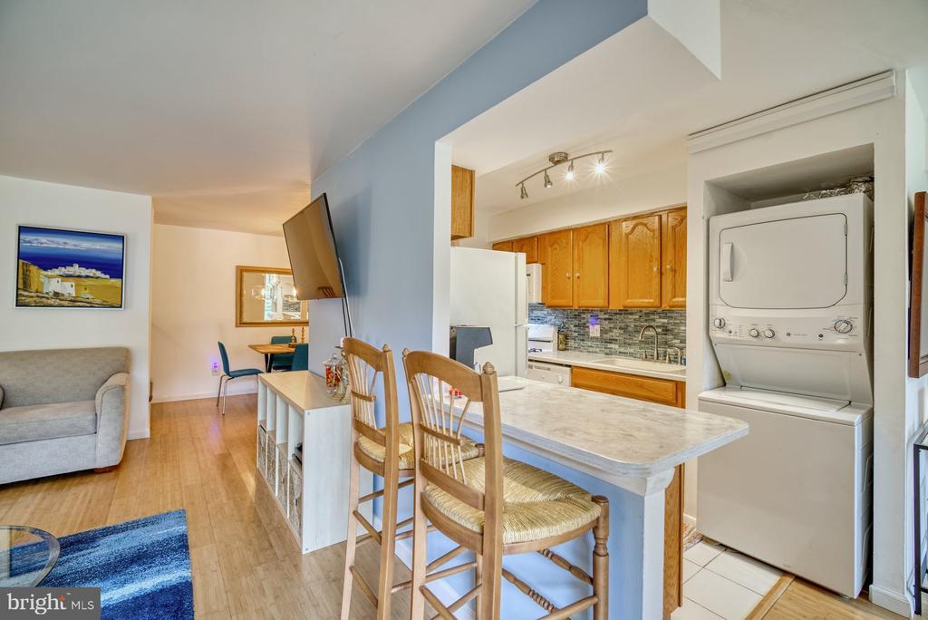 Open Galley Kitchen has built in laundry - 11236 CHESTNUT GROVE SQ #164, RESTON