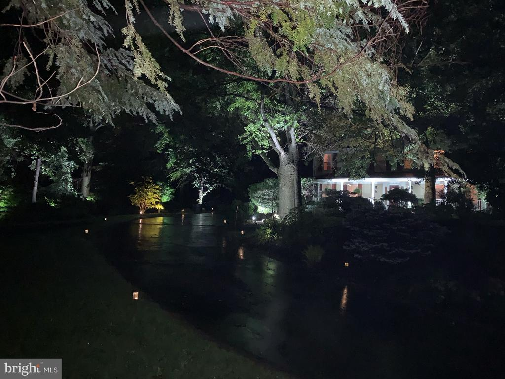 Lighted Driveway at night - 1515 STUART RD, RESTON