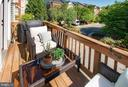 Back deck - ideal for bar b que and chairs - 5000 DONOVAN DR, ALEXANDRIA