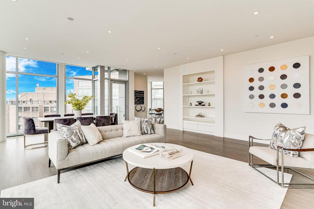 LIVING ROOM WITH GLASS DOOR TO FIRST BALCONY - 1177 22ND ST NW #8G, WASHINGTON