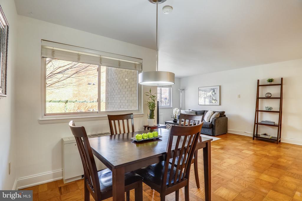 Dining Room and Living Room - 4555 MACARTHUR BLVD NW #G6, WASHINGTON