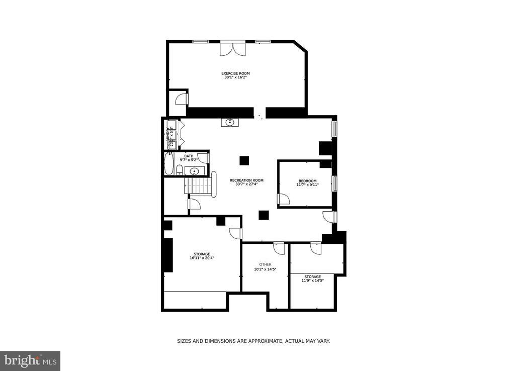 Floor Plan - Lower Level - 2308 TRACY PL NW, WASHINGTON