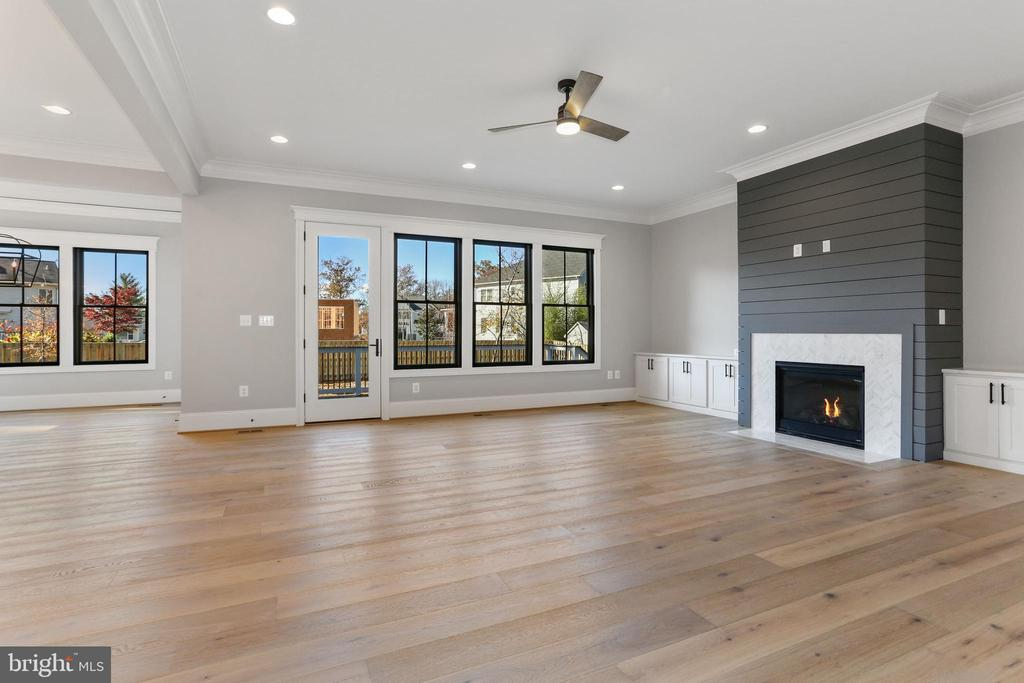 Sample: Family Room with Gas Firepalce - 114 ELM ST SW, VIENNA