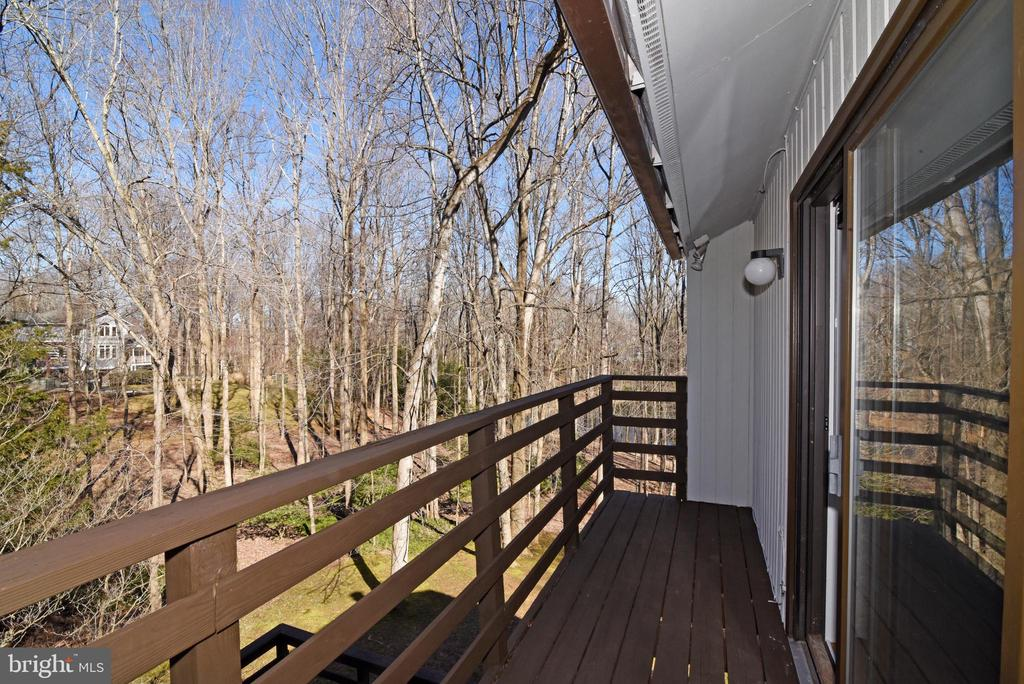 Balcony off Primary Bedroom - 1101 PEPPERTREE DR, GREAT FALLS