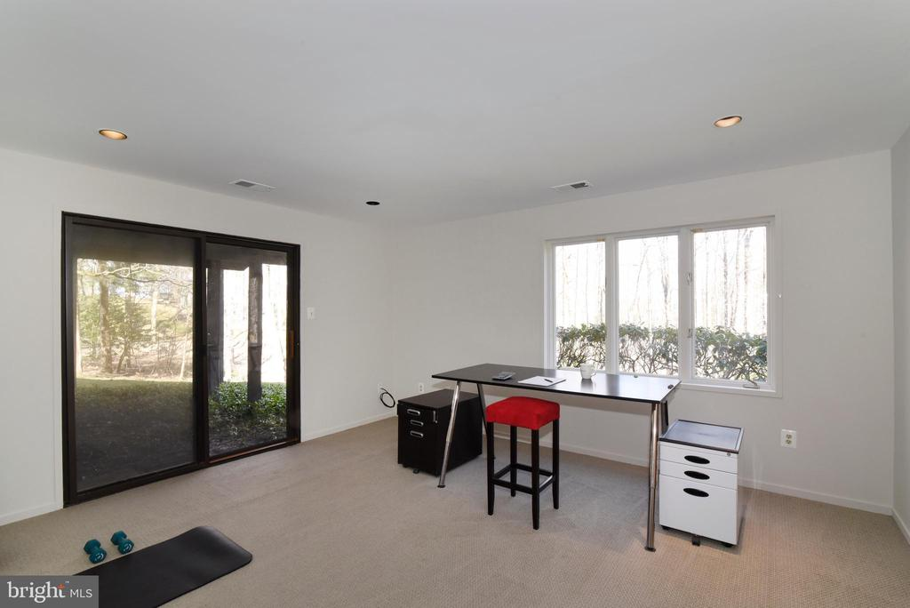 Lower Level Office with attached Bath - 1101 PEPPERTREE DR, GREAT FALLS