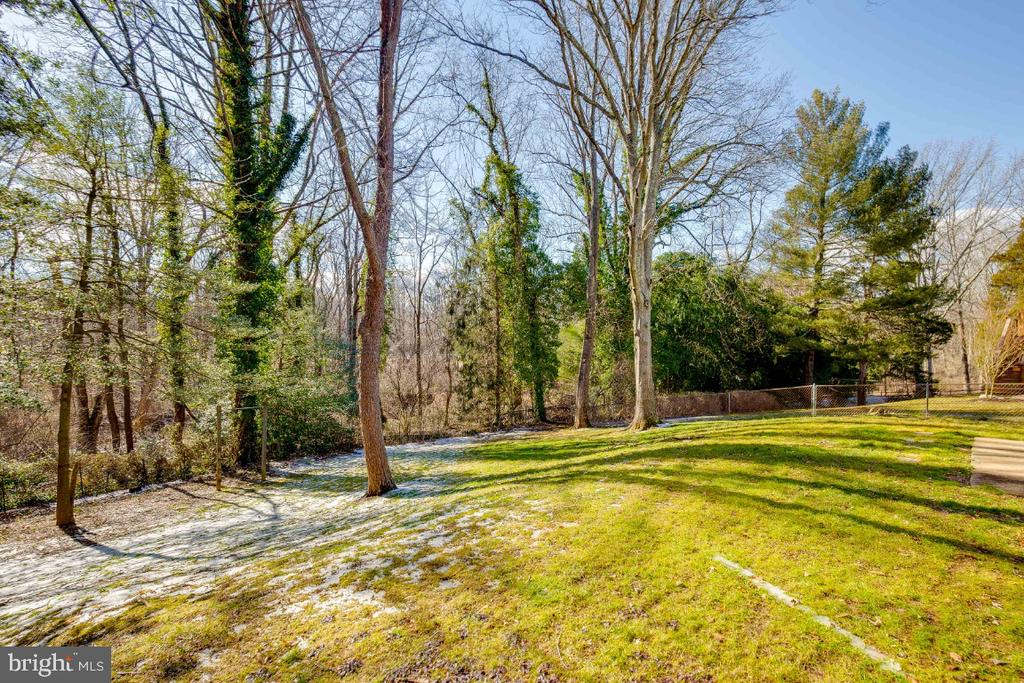 View to Long Branch Park from rear of house - 5035 KING RICHARD DR, ANNANDALE
