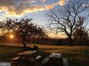 Sunset from the back of the house near kitchen - 21943 ST LOUIS RD, MIDDLEBURG
