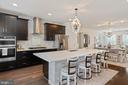 Look at the contrast between island and cabinets - 2066 ALDER LN, DUMFRIES