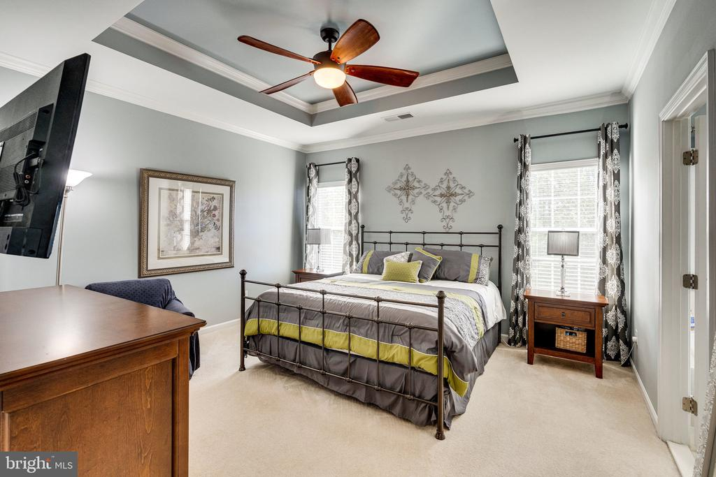 Primary suite w tray ceiling & fan - 42965 EDGEWATER ST, CHANTILLY