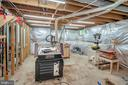 Woodworking shop. Large basement to make your own! - 3502 AQUIA DR, STAFFORD