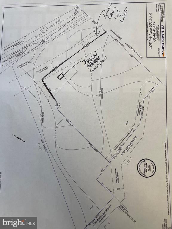 updated LOT line Barn not part of sale recorded s - 11450 QUAILWOOD MANOR DR, FAIRFAX STATION
