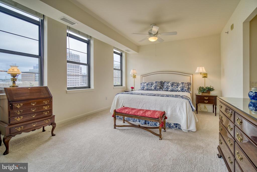 Spacious primary bedroom � flooded with light - 1830 FOUNTAIN DR #604, RESTON