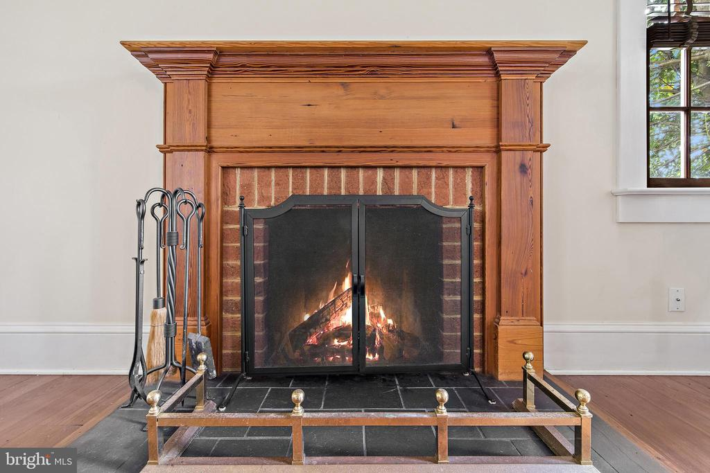 family room fireplace - 20707 ST LOUIS RD, PURCELLVILLE