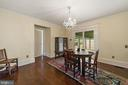 dining room w/ patio access - 20707 ST LOUIS RD, PURCELLVILLE