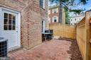 Private patio of main level den - 6831 WASHINGTON BLVD #D, ARLINGTON