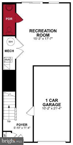 First Level Floor Plan - 308 HUFF DR, STAFFORD
